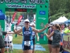 Carole's finish at the Timberman 70.3 Ironman